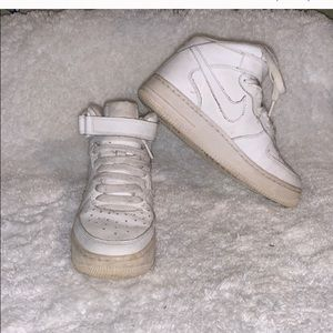 Nike white Air Force high top 5.5 Y